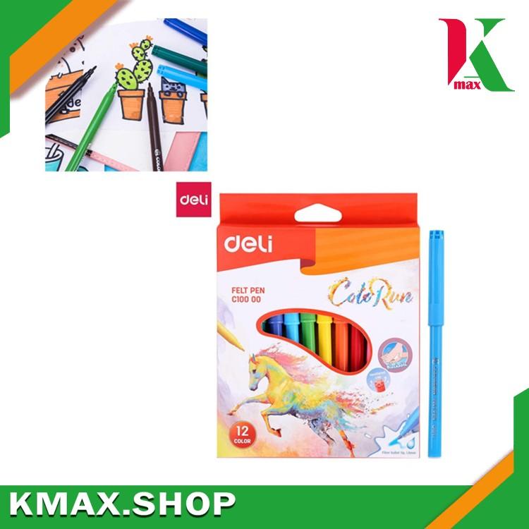 Deli Soft Pen (Felt tip) 12 colors