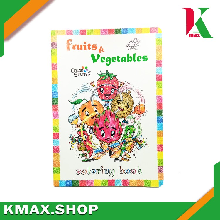 Color Stones coloring book fruits & vegetables